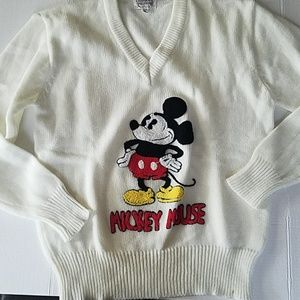 Vintage Disney Character Fashions Mickey Sweater